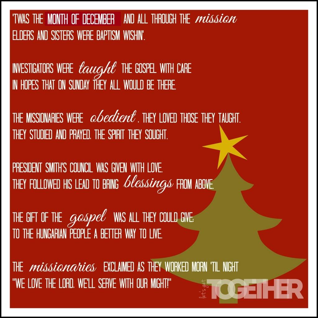 Missionary Christmas Poem