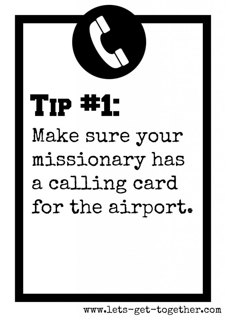 Tip #1: Calling Card