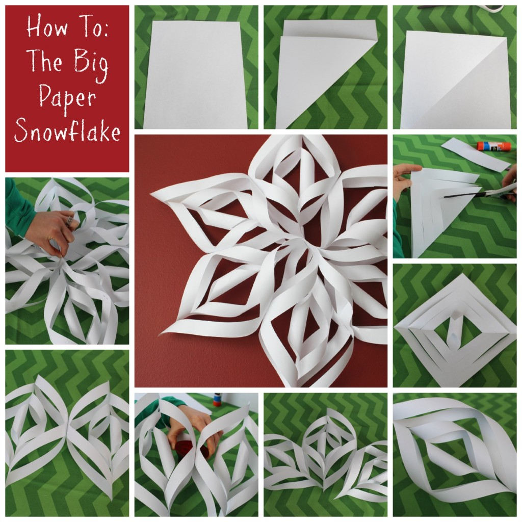 How To: The Big Paper Snowflake from Let's Get Together