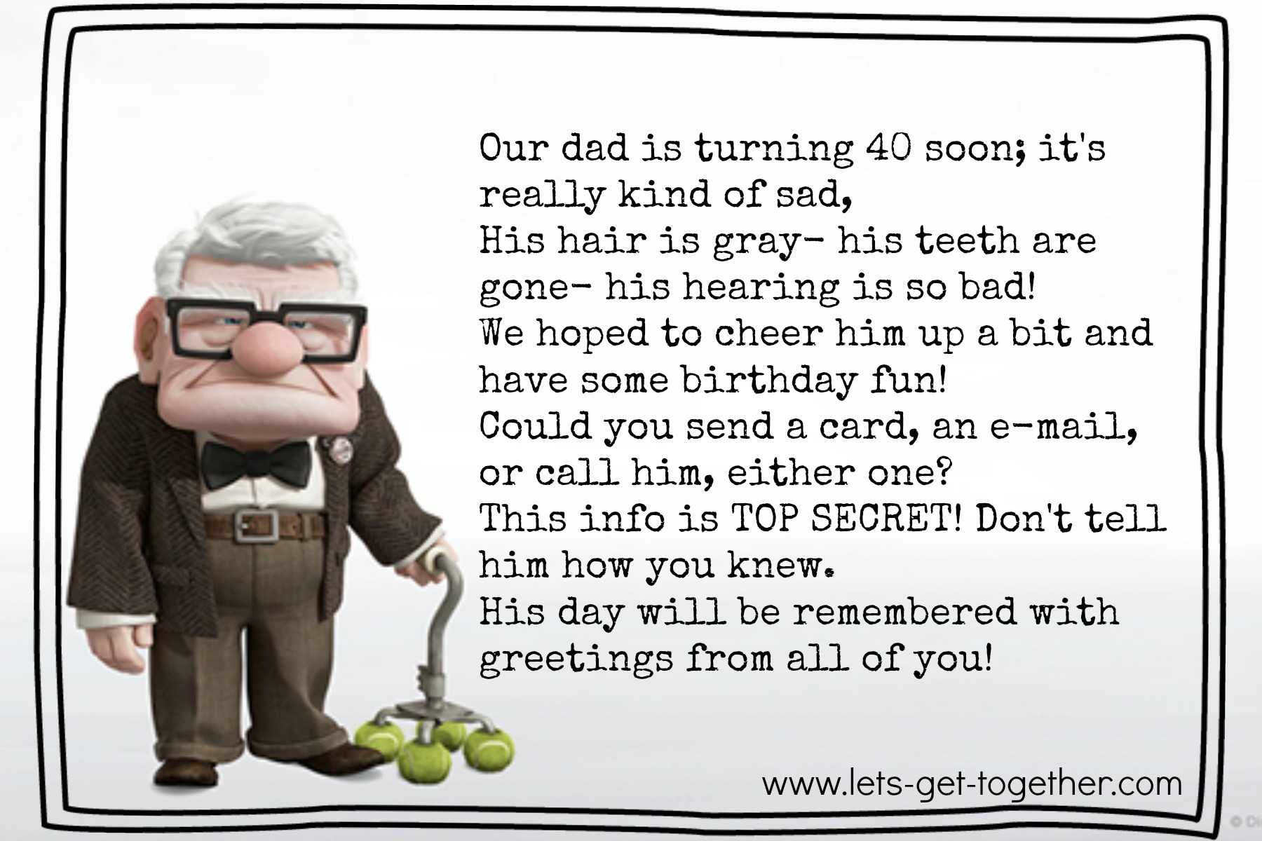 dad birthday poems 40th birthday poem let s get
