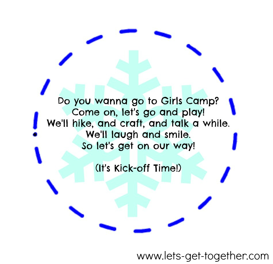 ... write or print the when and where of your Camp Kick-off Activity on