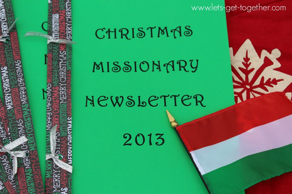 Christmas Missionary Newsletter from Let's Get Together