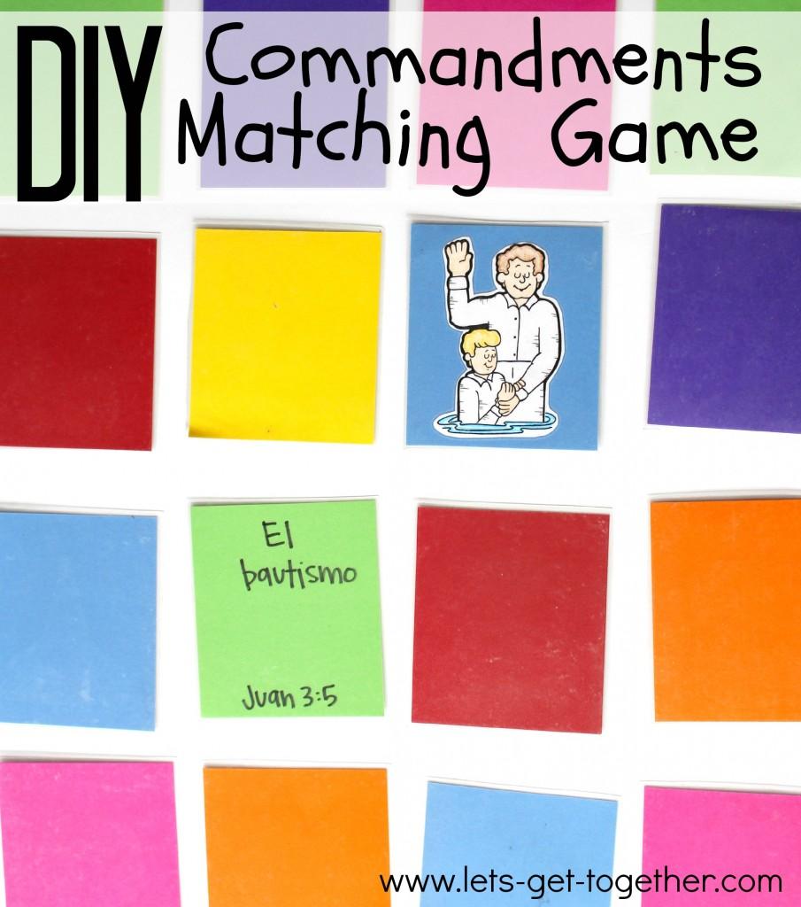 DIY Commandments Matching Game