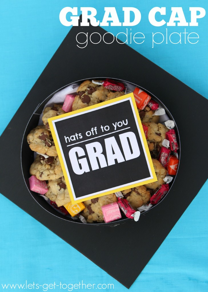 Grad Cap Goodie Plate from Let's Get Together