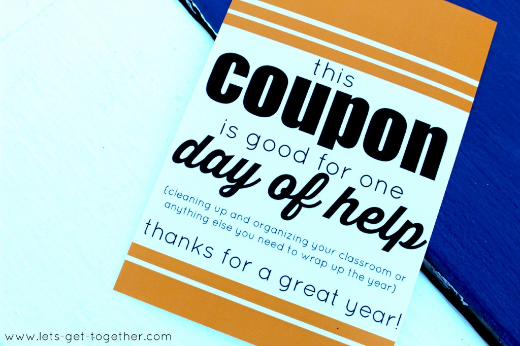 Teacher Coupon from Let's Get Together