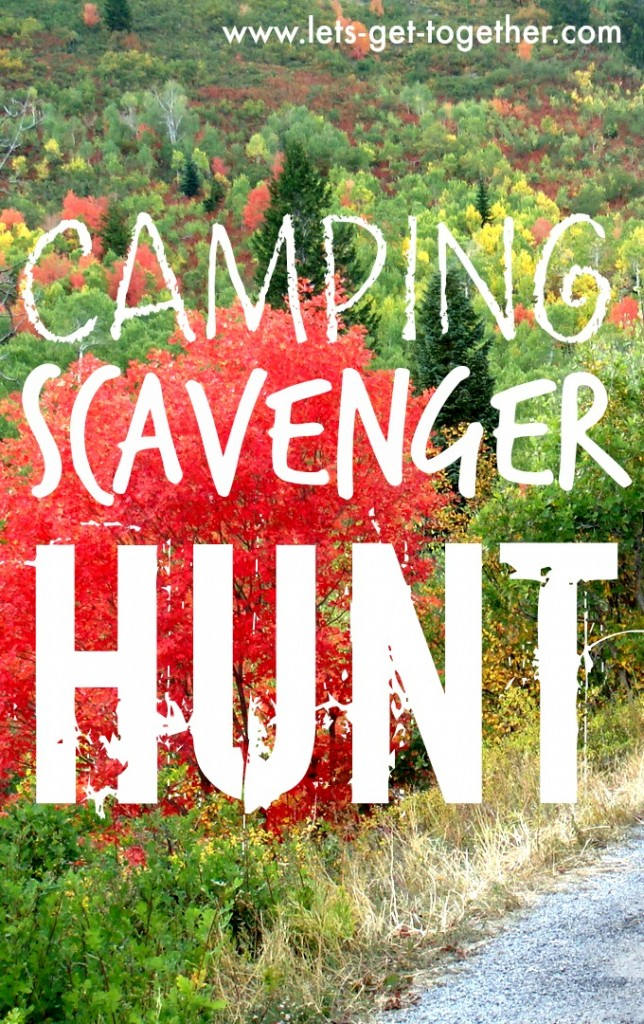 Camping Scavenger Hunt from Let's Get Together