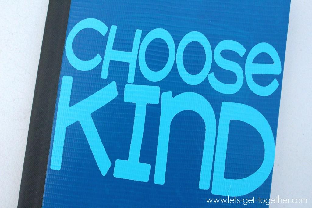 Chooose Kind Notebook from Let's Get Together