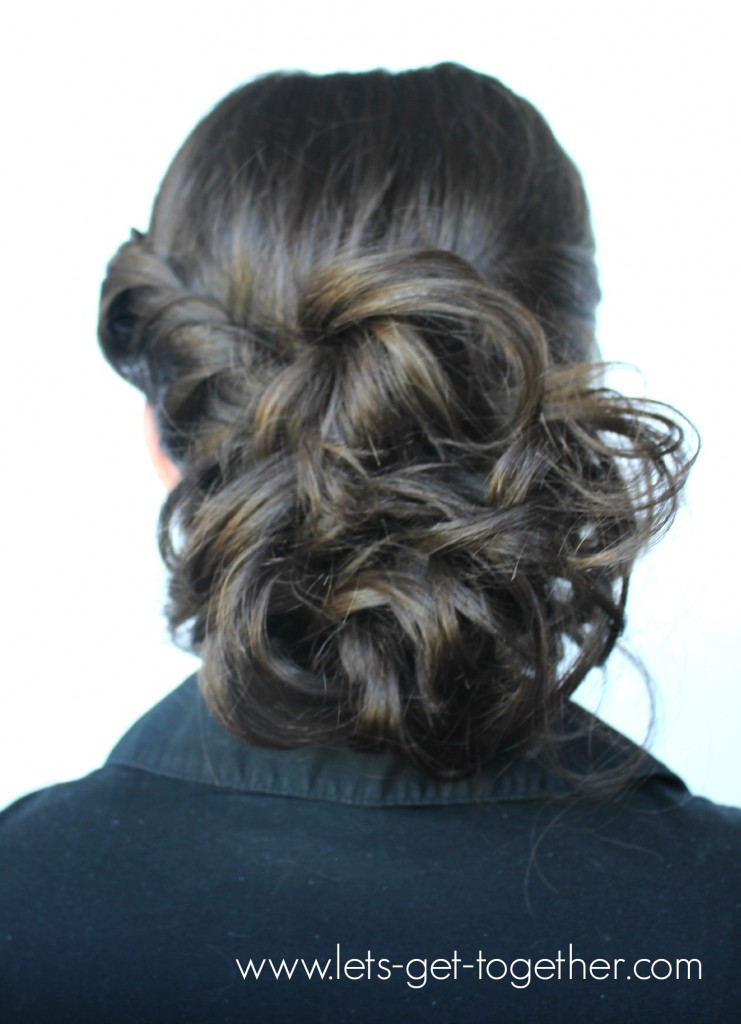 Side Twist Messy Bun from Let's Get Together