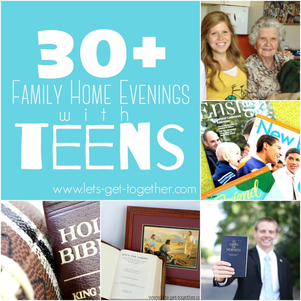30 family home evenings with teens for Idea door family home evening