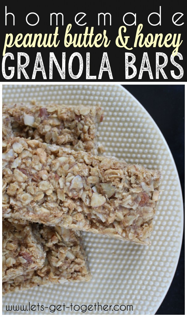 Homemade Peanut Butter & Honey Granola Bars from Let's Get Together
