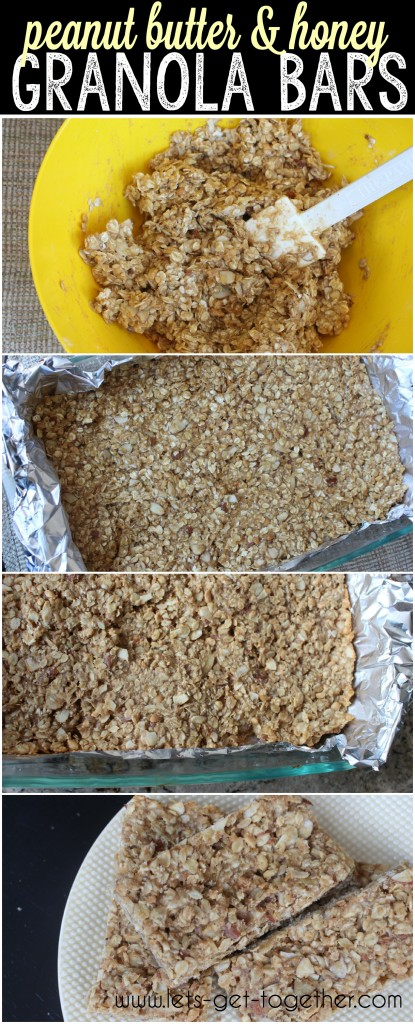 Peanut Butter & Honey Granola Bars from Let's Get Together