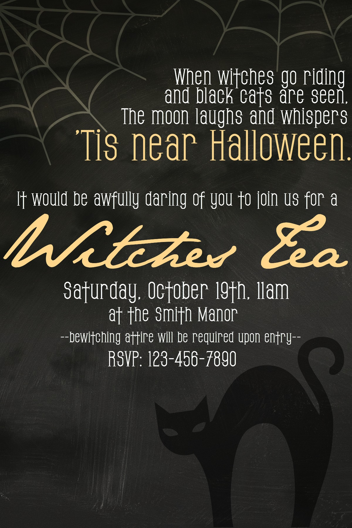 How to Host a Witches Tea Party – Get Together Party Invitation