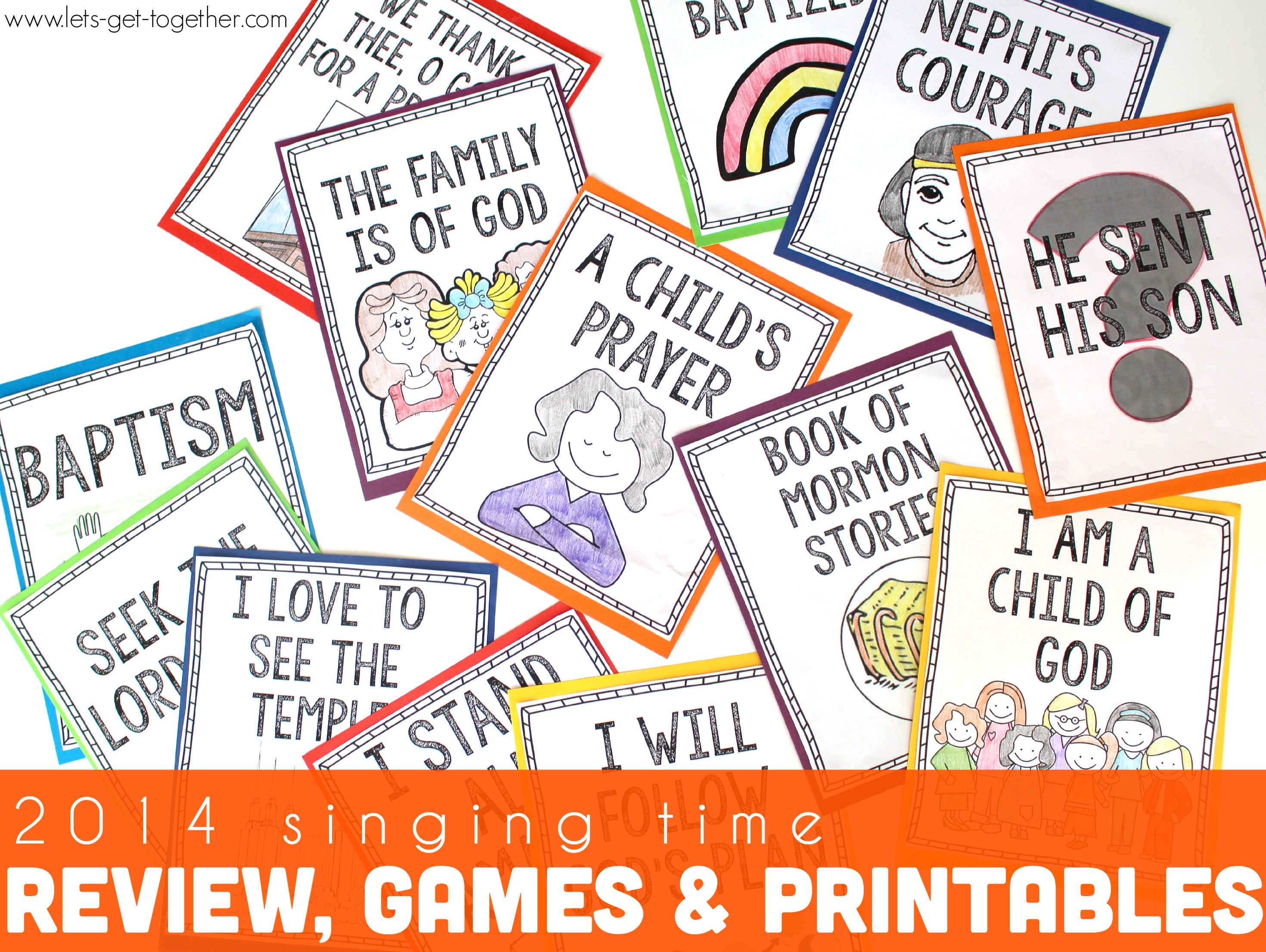 Singing time program review games and ideas free printables for Idea door primary printables
