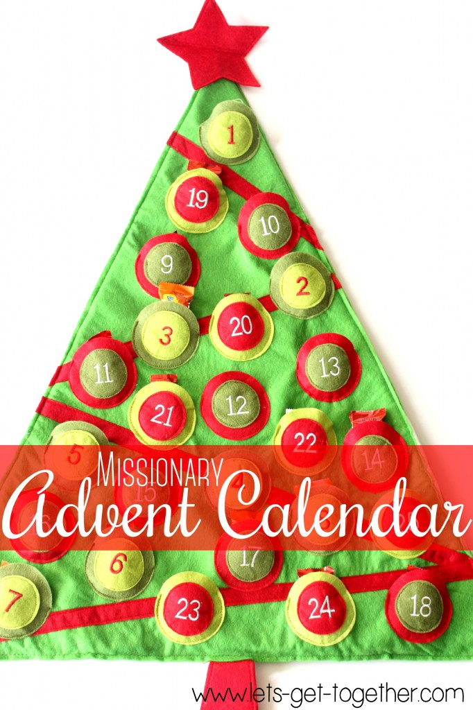 Missionary Advent Calendar from Let's Get Together
