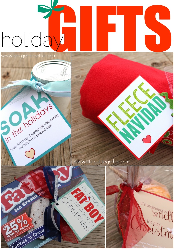 4 EASY Christmas Neighbor Gifts & Printables