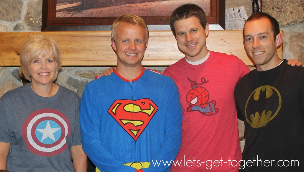 Superhero Adults from Let's Get Together