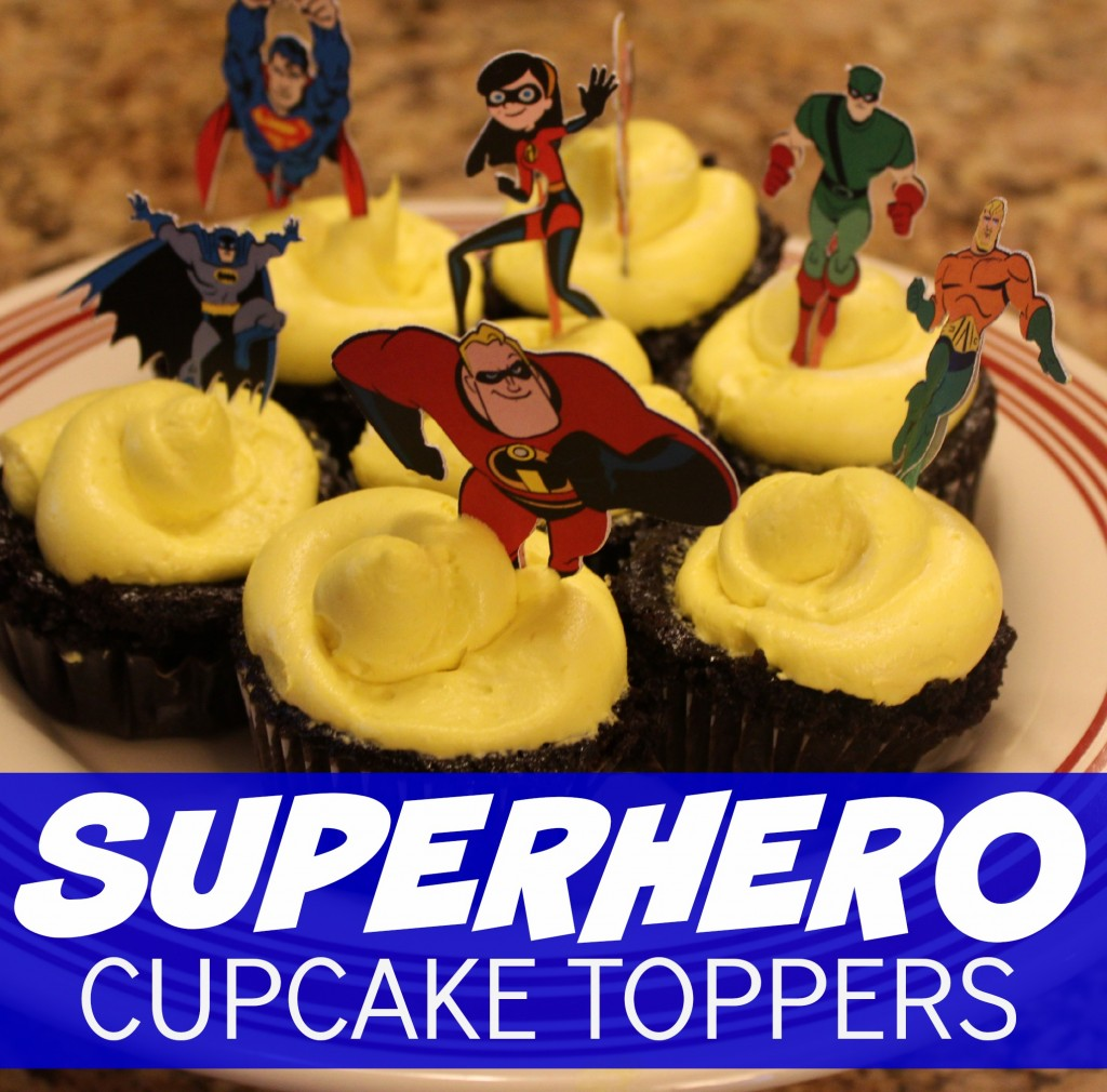 Superhero Cupcake Toppers from Let's Get Together