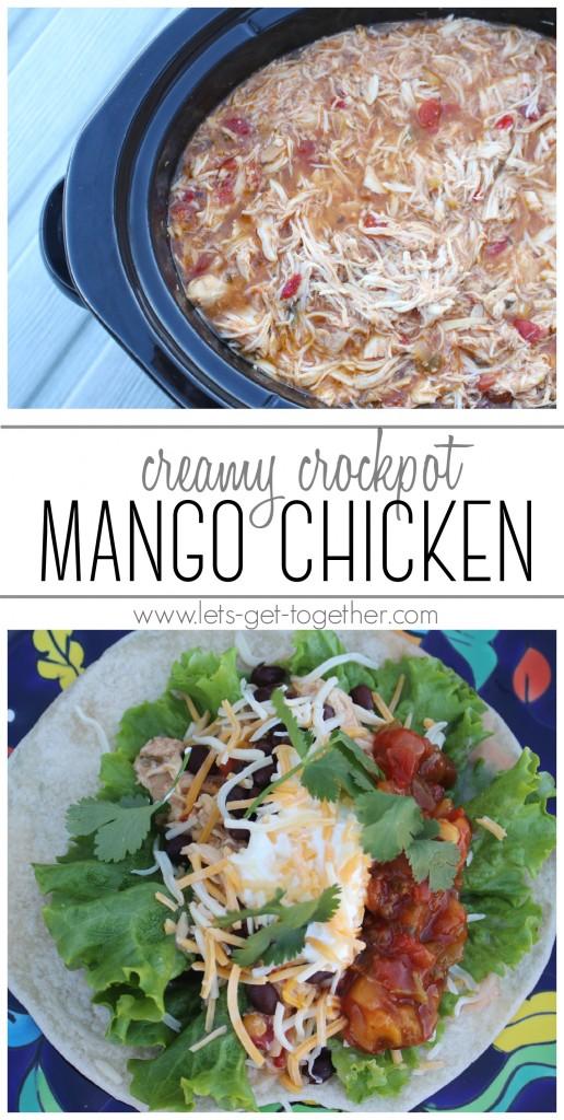 Creamy Crockpot Mango Chicken