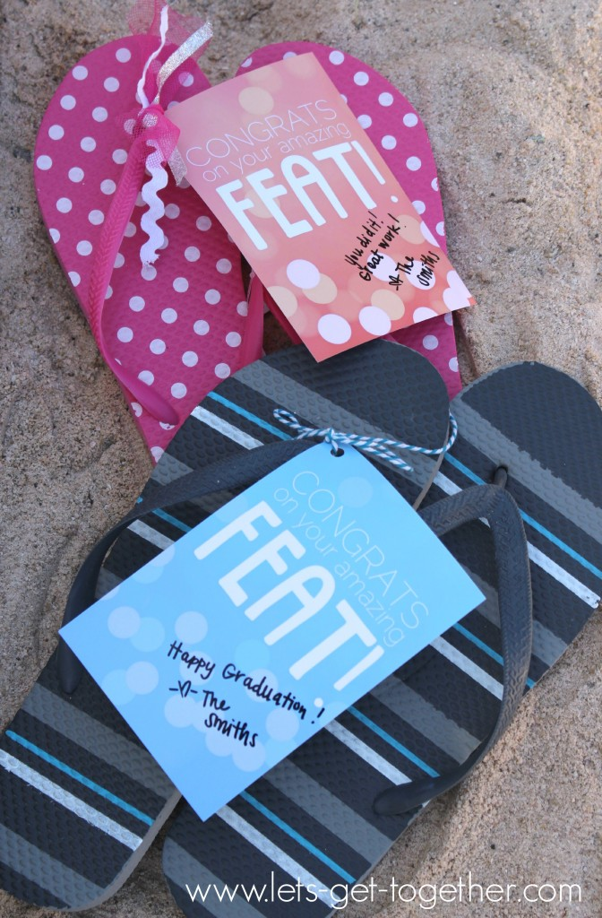 Graduation Flip Flops from Let's Get Together