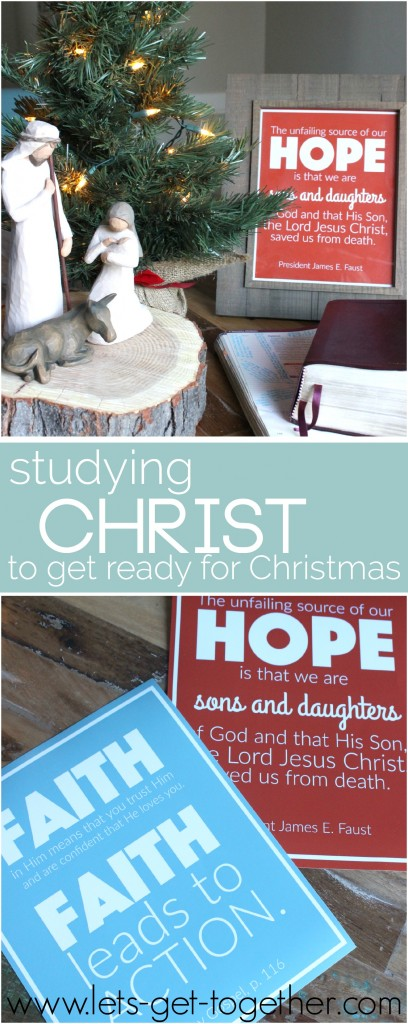 A study plan of Christlike attributes that one family did to get ready for Christmas.