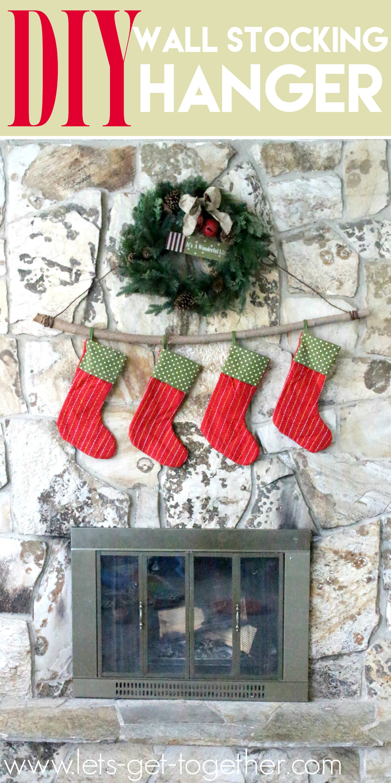 decorative christmas stocking hanger