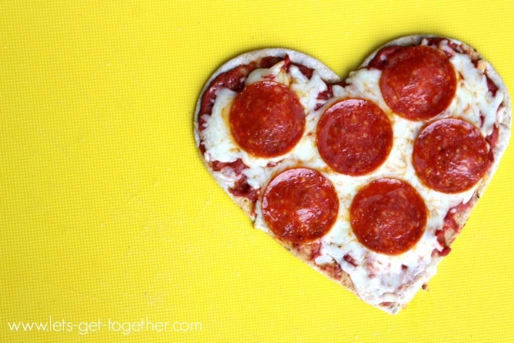 Pepperoni Heart Pizza