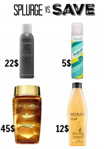 Splurge vs. Save: Hair Products