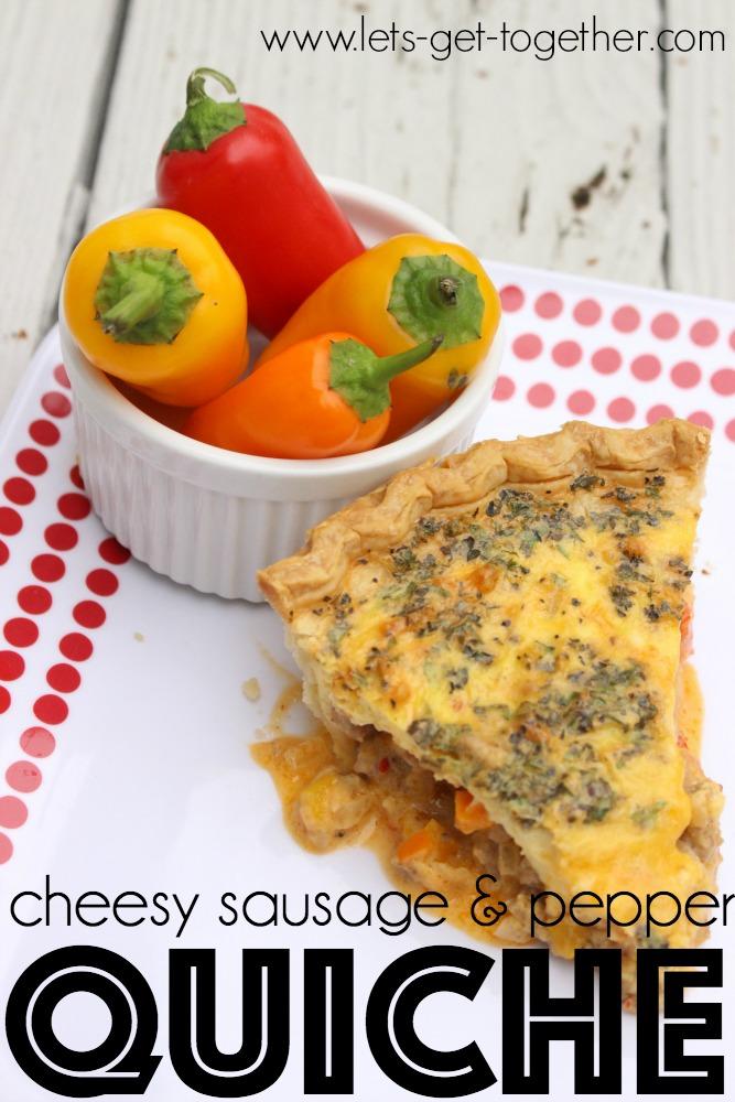 Cheesy Sausage and Pepper Quiche