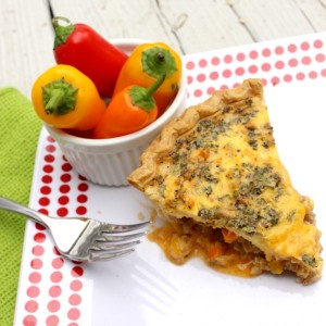 Cheesy Sausage and Bell Pepper Quiche and a Little Life Update