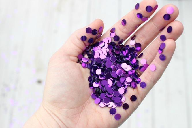 purple sequins