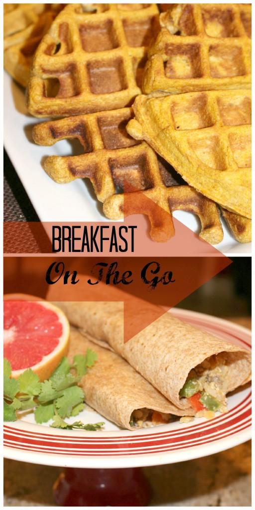 Breakfast on the Go: Pumpkin Waffles & Breakfast Burritos