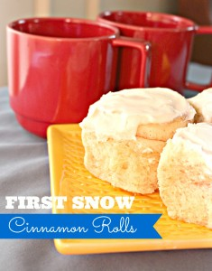First Snow Cinnamon Rolls