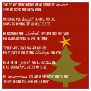 Missionary Mail: Christmas Poem
