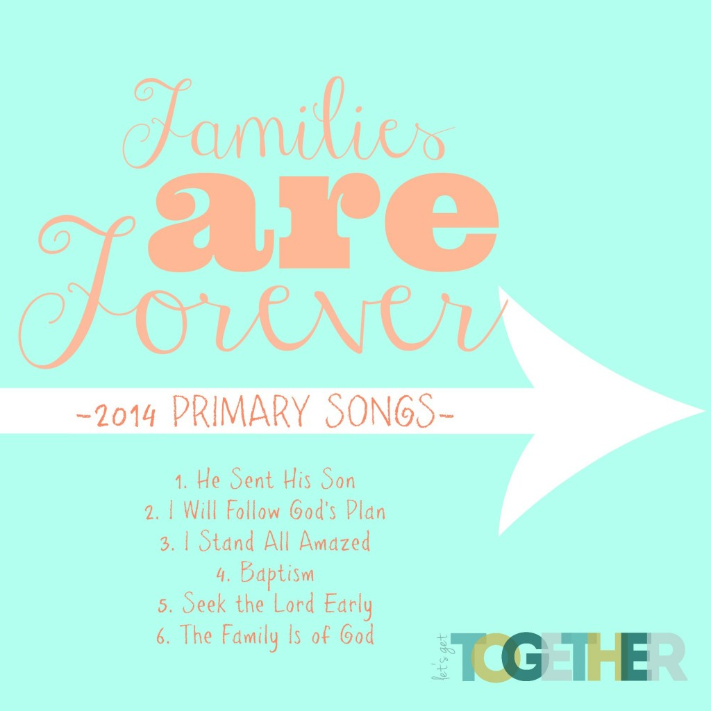 2014 Primary Songs CD Cover-FREE PRINTABLE