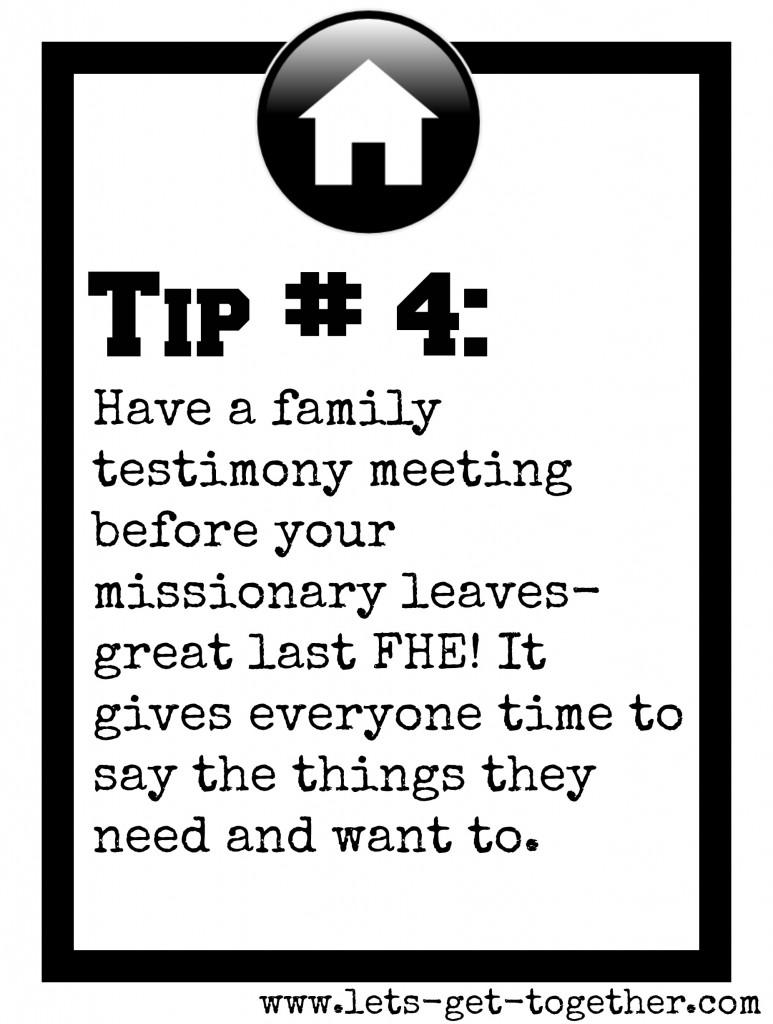 Tip #4: Family Testimony Meeting