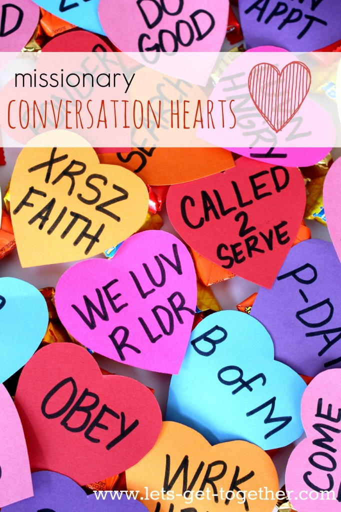 Missionary Conversation Hearts