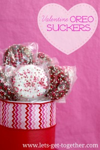 Valentine Oreo Suckers