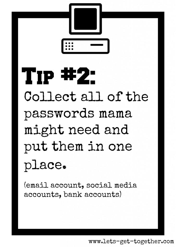 Tip #2: Passwords