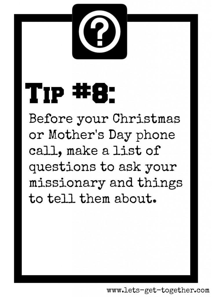 Tip #8: Phone Call Prep