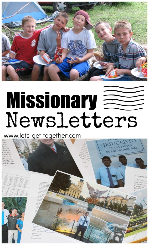 Missionary Newsletters from Let's Get Together