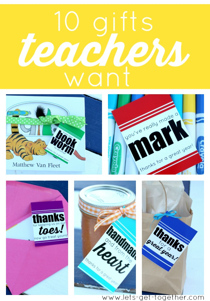 10 Gifts Teachers Want from Let's Get Together