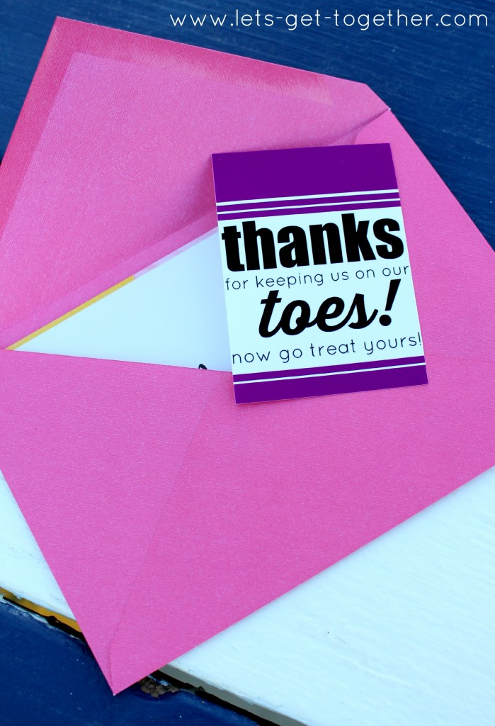Pedicure Gift Tag from Let's Get Together