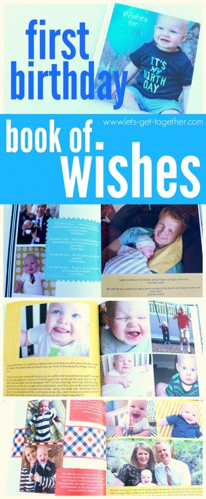 First Birthday Book from Let's Get Together