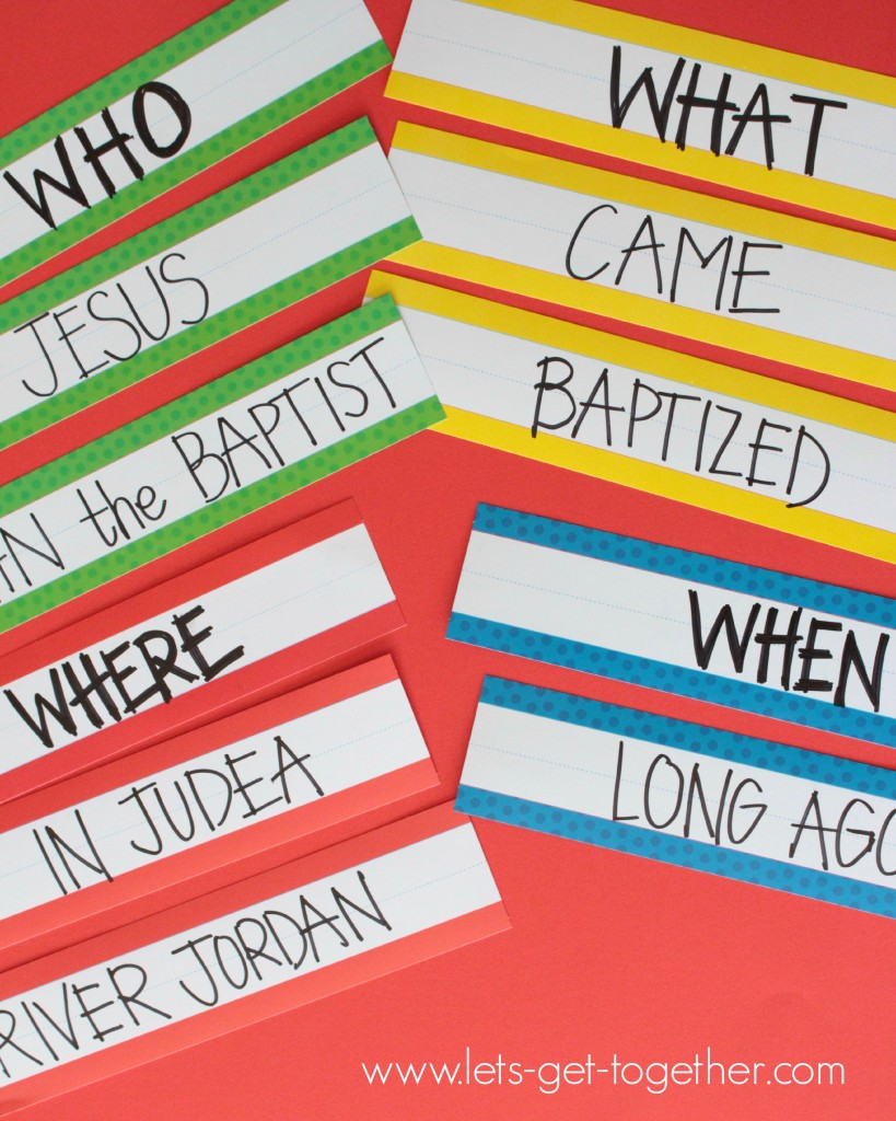 Baptism Word Strips