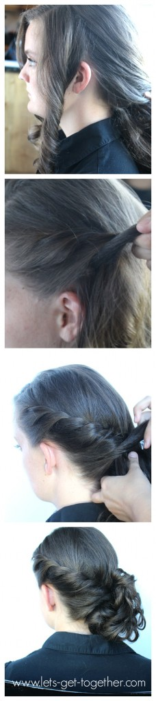 Side Twist Messy Bun