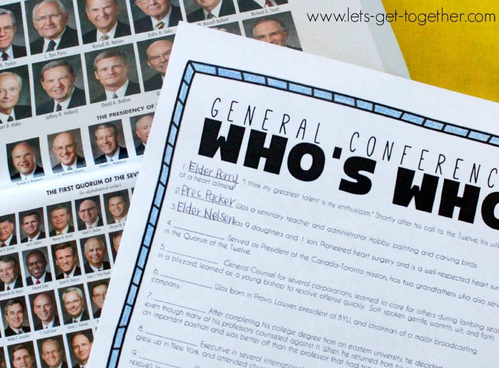 General Conference Who's Who from Let's Get Together