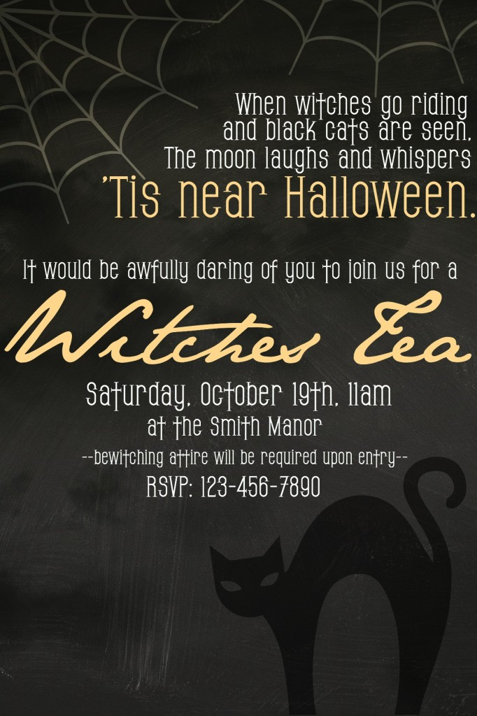 Witches Tea Invite from Let's Get Together