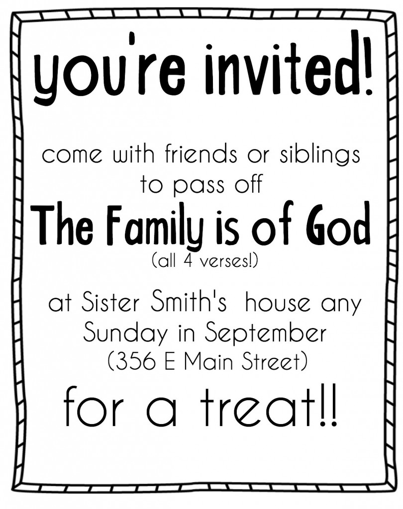 The Family Is of God Invite