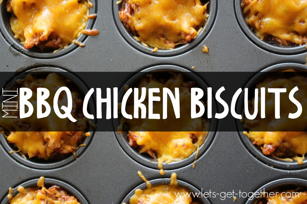 Muffin Tin BBQ Chicken Biscuits