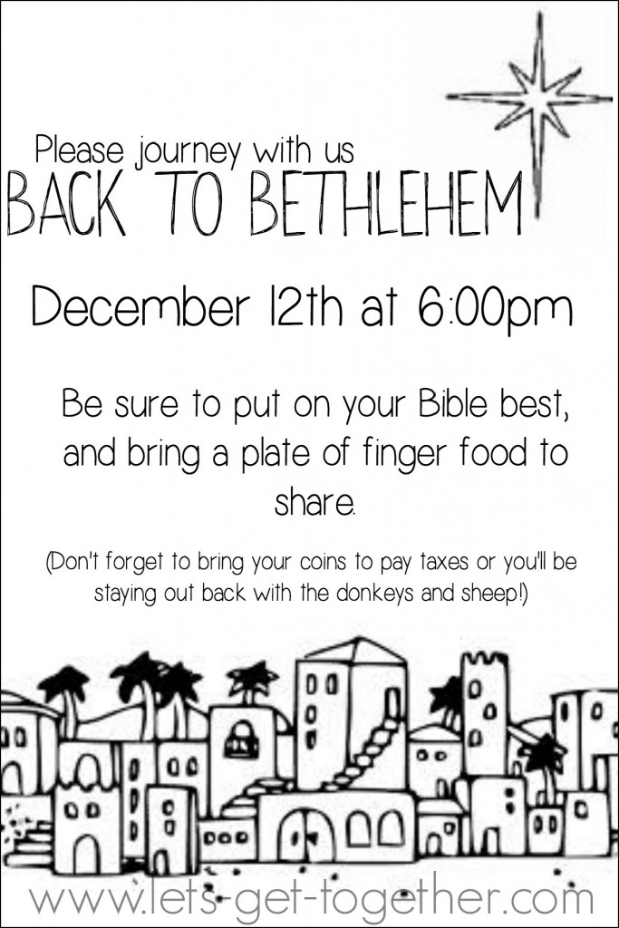 Back to Bethlehem Invite from Let's Get Together